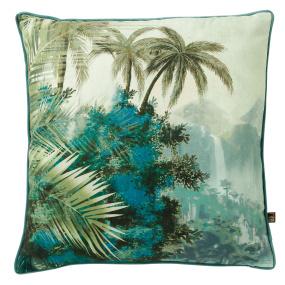 Goa Jungle Scene Green Cushion