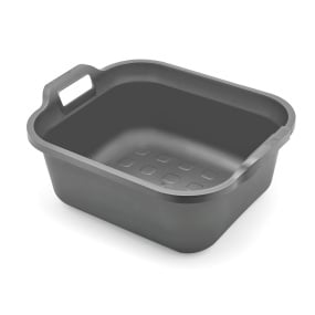 Addis 10 Litre Metallic Grey Rectangular Washing Up Bowl