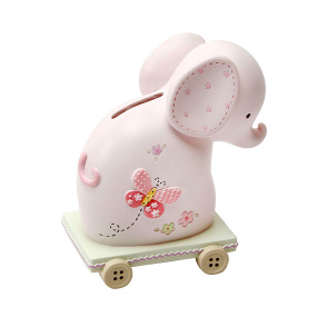 Pink Elephant Money Box