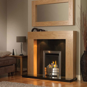 Urban Fire Surround with Black Granite Hearth & Back Panel | Housing Units