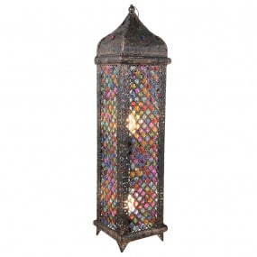 Jasmine Bronze & Multicoloured Floor Lamp