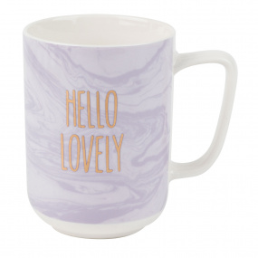 Marbled Mug Hello Lovely