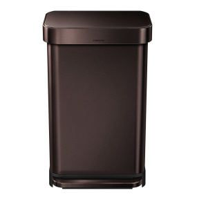 Simplehuman 45 Litre Dark Bronze Pedal Bin with Liner Pocket