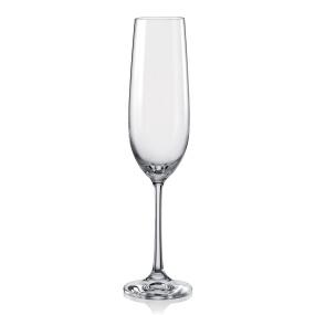 Dartington Crystal Glass Set of 6 Flutes