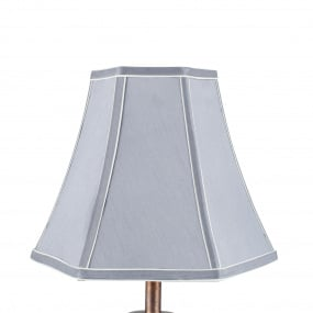 25cm Grey Polysilk Bowed Light Shade