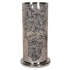Large Silver Leaf Effect Table Lamp
