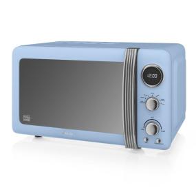 Swan Retro Blue 800W Digital Microwave