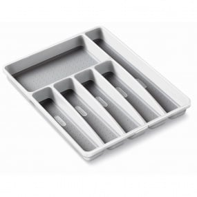Addis Soft Touch White & Grey Anti Slip Drawer Organiser