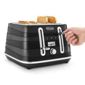 DeLonghi Avvolta Toaster Black