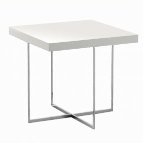 Torino White High Gloss Side Table