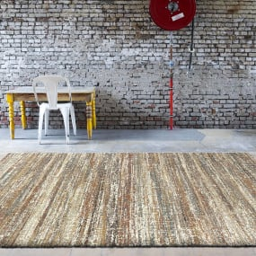 Mehari Brown & Cream 120cm x 170cm Rug