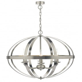 Symbol 6 Light Satin Chrome Pendant Light