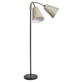 Deco Black & Bronze Floor Lamp