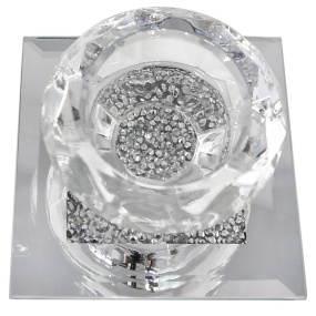 Milano Crystal One Light Tealight Holder