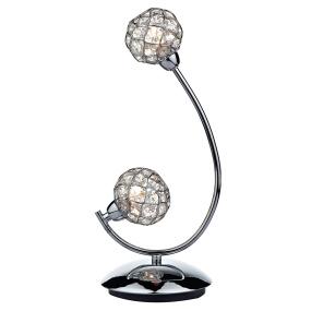 Circa 2 Light Chrome Table Lamp