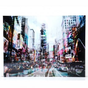 Times Square Glass Picture 70 x 90cm