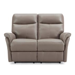 Hayward Electric Truffle Leather 2 Seater Sofa