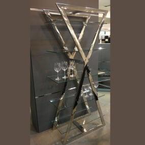 Xanadu Chrome and Glass Wall Unit