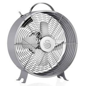 Swan Retro Grey 8 Inch Clock Fan