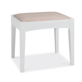 Henley White Dressing Table Stool