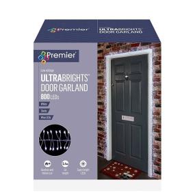 800 White Ultrabrights Door Garland LED Christmas Lights | Housing Units