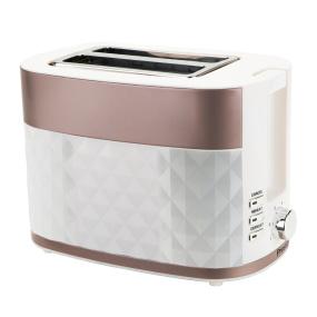 Prestige White & Rose Gold 2 Slice Prism Toaster