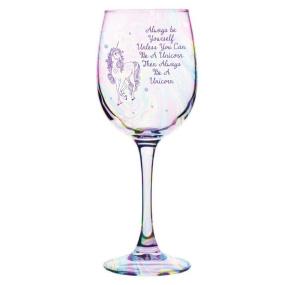 Always Be A Unicorn Wine Glass