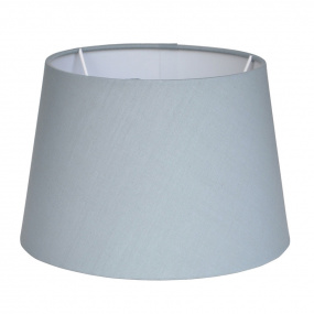 Tapered Poly Cotton 16 Inch Grey Lamp Shade