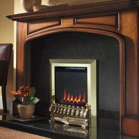 Flavel Raglan Balanced Flue Brass Gas Fire