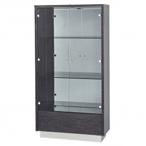Monte Carlo Slate Grey High Gloss Display Cabinet