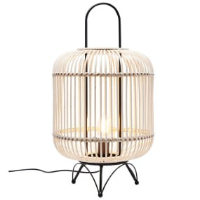 Natural Rattan Bamboo Lantern Table Lamp