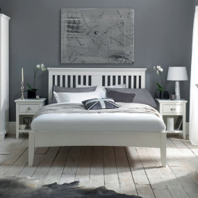 Henley White Bed Frame Collection