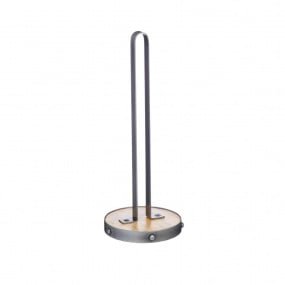 Industrial Kitchen Metal & Wood Kitchen Roll Holder