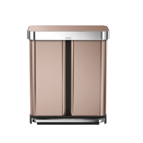 Simplehuman 58 Litre Rose Gold Pedal Bin with Liner Pocket