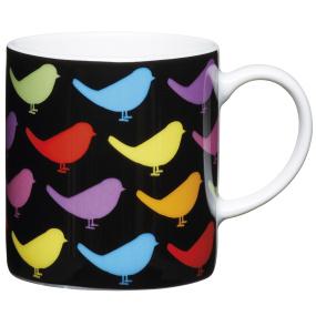 Birds Porcelain Expresso Cup