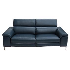 Lucia Large Petrol Blue Leather Electric Sofa