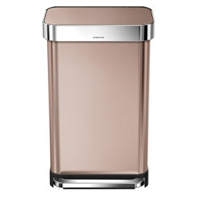 Simplehuman 45 Litre Rose Gold Pedal Bin with Liner Pocket