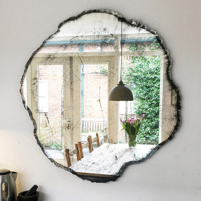 Arbo Wall Mirror with Tree Print