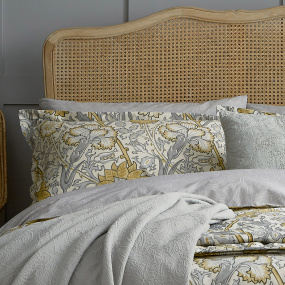 Morris & Co Pink & Rose Grey Housewife Pillowcase Pair