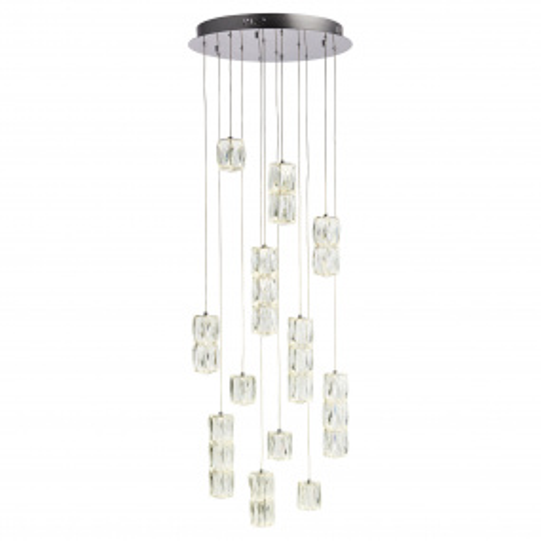 Prisma Chrome Clear Glass Pendant Ceiling Light | Housing Units
