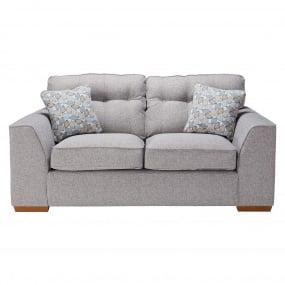 Clarendon Grey Fabric 2 Seater Sofa With Scatter Cushions - Front | Housing Units
