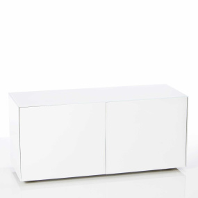 "Invictus White TV Stand for up to 55"" TVs"