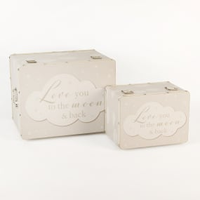 Bambino Set of 2 Love You to The Moon and Back Luggage Boxes