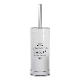 Showerdrape Paris White Toilet Brush and Holder