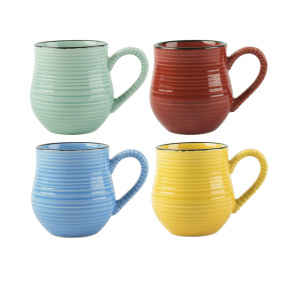 Set of Four La Cafetiere Brightly Coloured Espresso Mugs