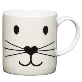 Cat Face Porcelain Espresso Cup