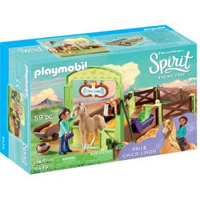 Playmobil Pru and Chica Linda Horsebox