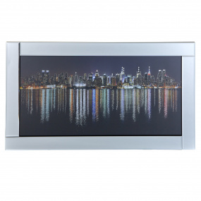 New York Mirrored Frame Picture