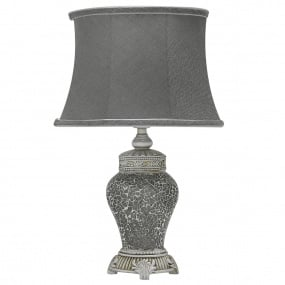Abri Grey Sparkle Mosaic Medium Table Lamp and Shade