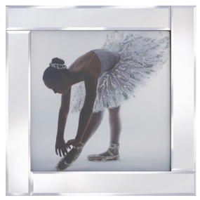 Ballerina with Mirrored Frame
